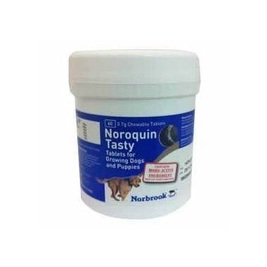 Noroquin Tasty Tablets 0.7g Growing Dogs and Puppies