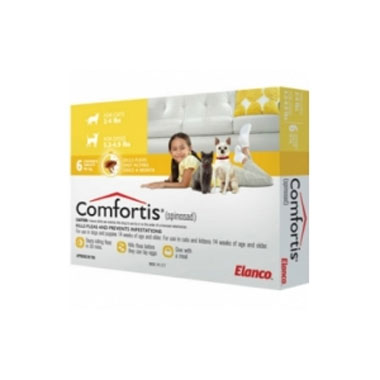 Comfortis Chewable Flea Tablets for Dogs & Cats 90mg