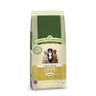James Wellbeloved Junior Dog Lamb & Rice Kibble Large Breed