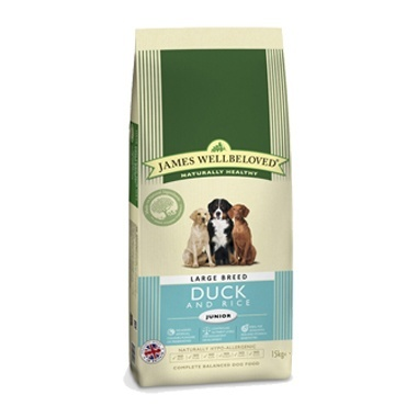 James Wellbeloved Junior Dog Duck & Rice Kibble Large Breed