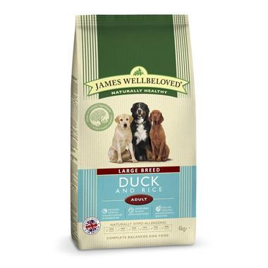 James Wellbeloved Adult Dog Duck & Rice Kibble Large Breed