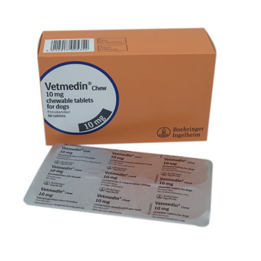 Vetmedin Chewable Tablets 10mg