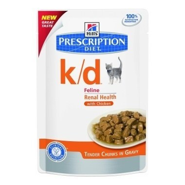Hills Prescription Diet K/D Feline Tender Chunks In Gravy Sachets