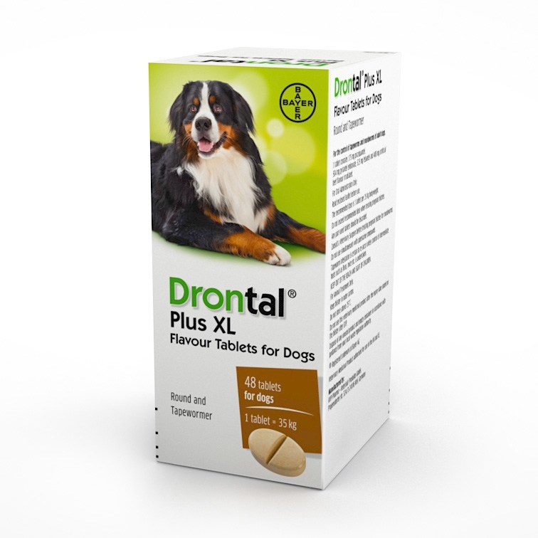 Drontal Plus XL Wormer Multibuy (48 Tablets)