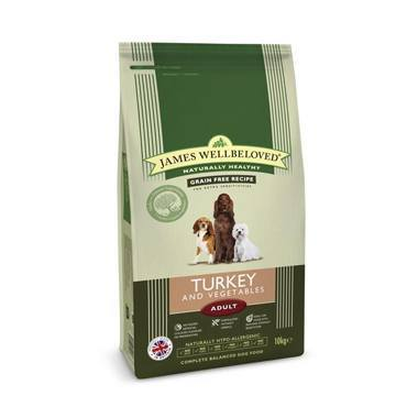 James Wellbeloved Adult Dog Turkey & Vegetable Kibble (Cereal Free)