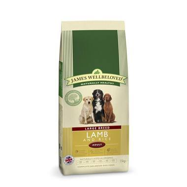 James Wellbeloved Adult Dog Lamb & Rice Kibble Large Breed