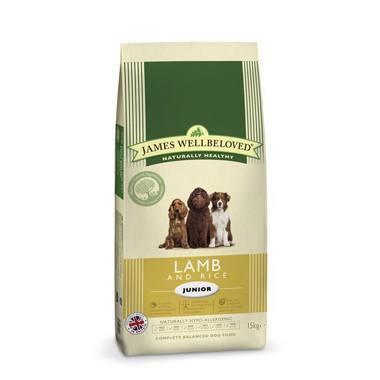 James Wellbeloved Junior Dog Lamb & Rice Kibble