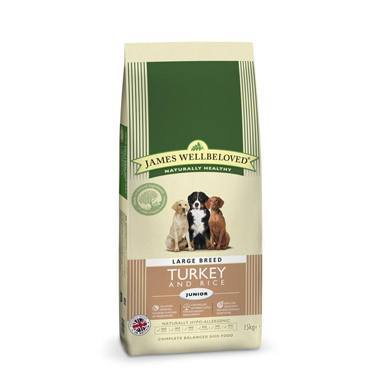 James Wellbeloved Junior Dog Turkey & Rice Kibble Large Breed