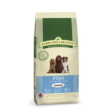 James Wellbeloved Junior Dog Fish & Rice Kibble