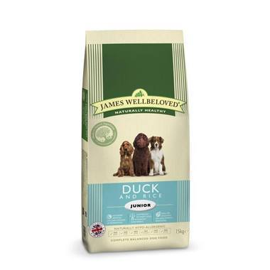 James Wellbeloved Junior Dog Duck & Rice Kibble