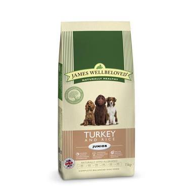 James Wellbeloved Junior Dog Turkey & Rice Kibble