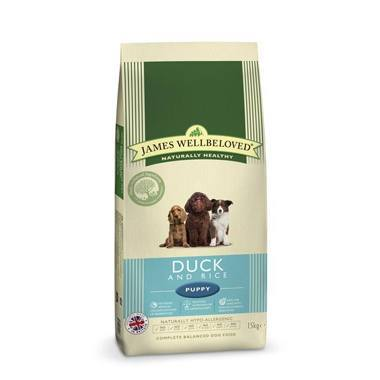 James Wellbeloved Puppy Duck & Rice Kibble