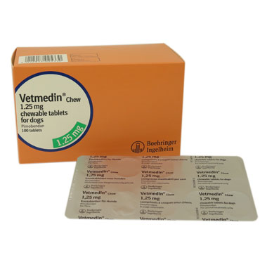 Vetmedin Chewable Tablets 1.25mg