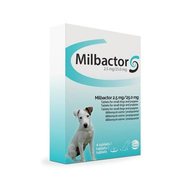 Milbactor 2.5mg For Puppies And Small Dogs