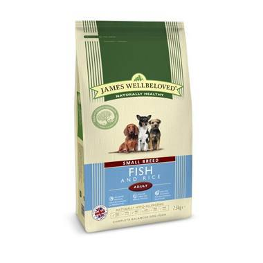 James Wellbeloved Adult Dog Small Breed Fish & Rice