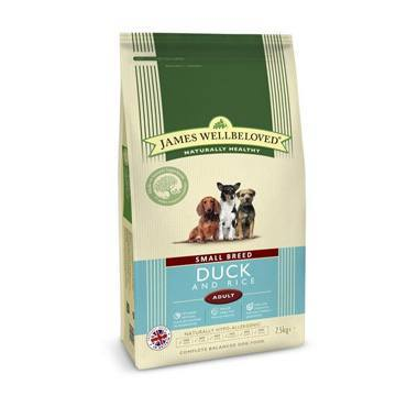 James Wellbeloved Adult Dog Small Breed Duck & Rice