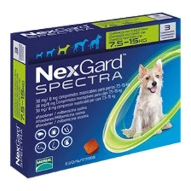 NexGard Spectra Chewable Tablets For Medium Dogs (7.5-15kg)