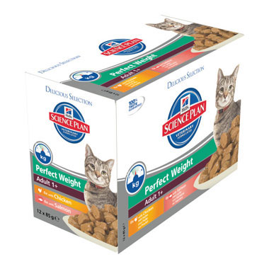 Hills Science Plan Feline Adult Perfect Weight Wet Pouches Selection
